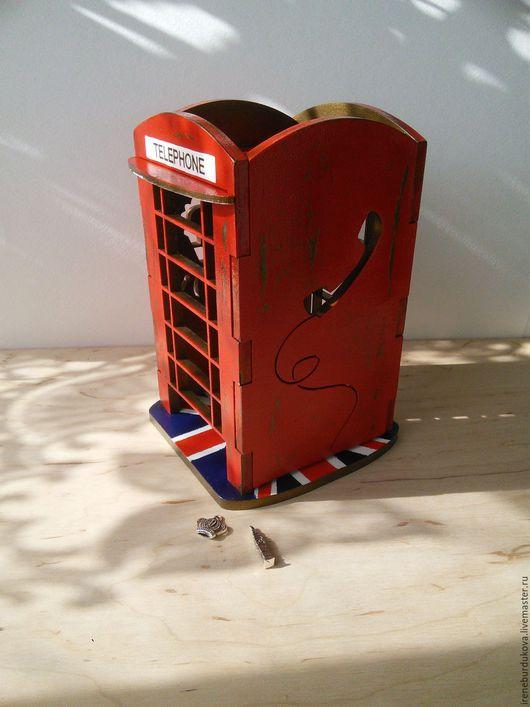 """Кухня ручной работы. Ярмарка Мастеров - ручная работа. Купить Чайный домик  """"Телефонная будка"""". Handmade. Комбинированный, акриловый лак"""