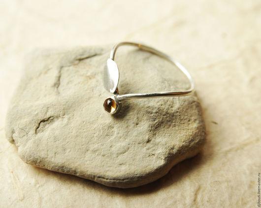 """Кольца ручной работы. Ярмарка Мастеров - ручная работа. Купить Серебряное кольцо """"Яблоко"""". Размер любой. Handmade. Желтый, кольцо"""