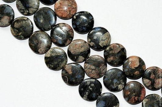 Артикул AG4-07 Купить бусины голубого риолита Купить риолит натуральный