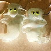 """Украшения ручной работы. Ярмарка Мастеров - ручная работа Светящиеся """"Привидения - дикие, но симпатичные"""": подвеска. Handmade."""