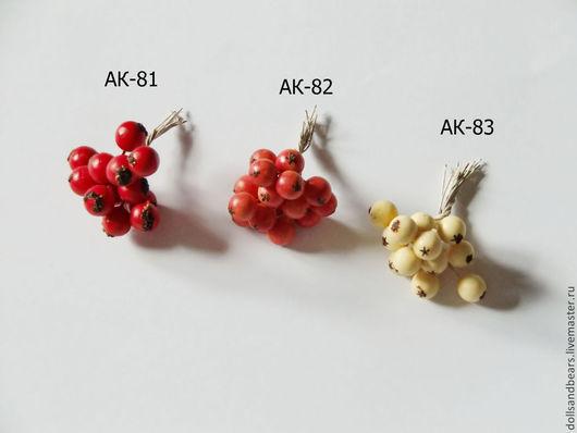 Материалы для флористики ручной работы. Ярмарка Мастеров - ручная работа. Купить Букетик из ягод, 3 вида. Handmade. Красный, белый