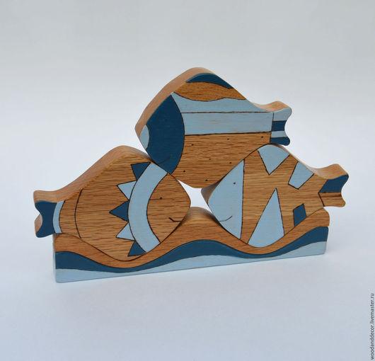Развивающие игрушки ручной работы. Ярмарка Мастеров - ручная работа. Купить Развивающая игрушка из дерева  Декоративные Рыбы из бука. Handmade.