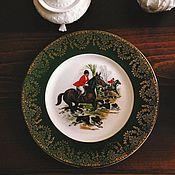 Винтаж ручной работы. Ярмарка Мастеров - ручная работа коллекционная английская тарелка Охота. Handmade.