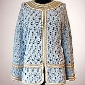 Одежда handmade. Livemaster - original item Crochet sweater Amber. Handmade women merino wool pullover. Handmade.