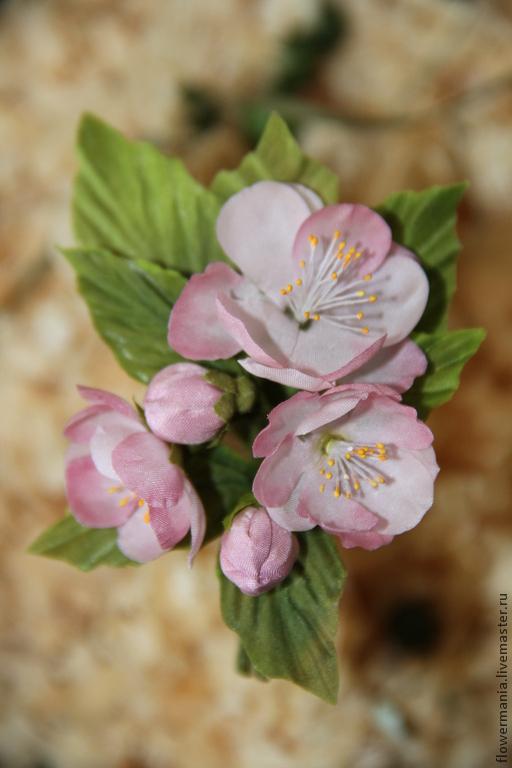 """Цветы ручной работы. Ярмарка Мастеров - ручная работа. Купить """"ЦВЕТЕНИЕ ЯБЛОНИ"""". Handmade. Бледно-розовый, яблоневый цвет, весна"""