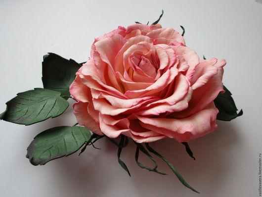 Броши ручной работы. Ярмарка Мастеров - ручная работа. Купить Брошь-роза.. Handmade. Бледно-розовый, изящное украшение