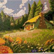 """Картины и панно handmade. Livemaster - original item Mosaic painting """"Little house"""". Handmade."""