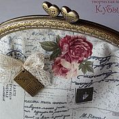 """Сумки и аксессуары ручной работы. Ярмарка Мастеров - ручная работа """"Письма о любви"""" косметичка большая. Handmade."""