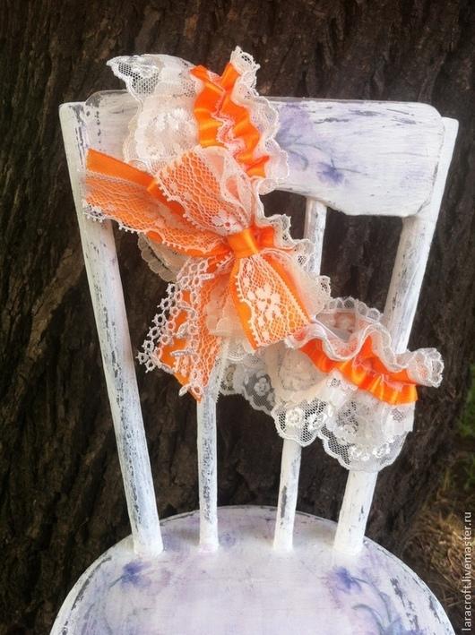 """Одежда и аксессуары ручной работы. Ярмарка Мастеров - ручная работа. Купить Подвязка """"Orange"""". Handmade. Апельсиновый, подвязка невесты купить"""