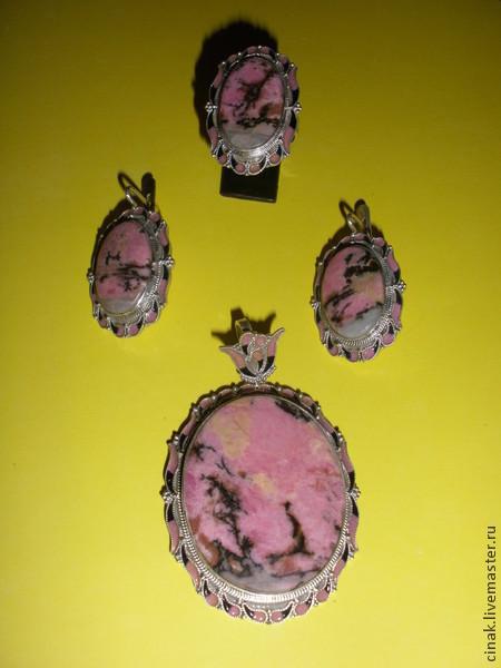 Комплекты украшений ручной работы. Ярмарка Мастеров - ручная работа. Купить Розовый рай - комплект из родонита. Handmade. Коралловый, родонит