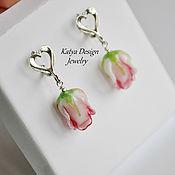 """Украшения ручной работы. Ярмарка Мастеров - ручная работа Серьги """"Light pink roses"""". Handmade."""