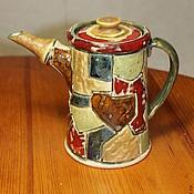 Посуда ручной работы. Ярмарка Мастеров - ручная работа Чайник-кофейник керамический. Handmade.