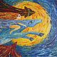 Картина Жарской Елены `Летящие в ночи` , холст, масло 160*120, 2015 г. По мотивам мультфильма Х.Миядзаки `Ведьмина служба доставки`