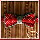 """Галстуки, бабочки ручной работы. Ярмарка Мастеров - ручная работа. Купить Двусторонняя галстук-бабочка """"Горошек, сэр!"""". Handmade. в горошек"""