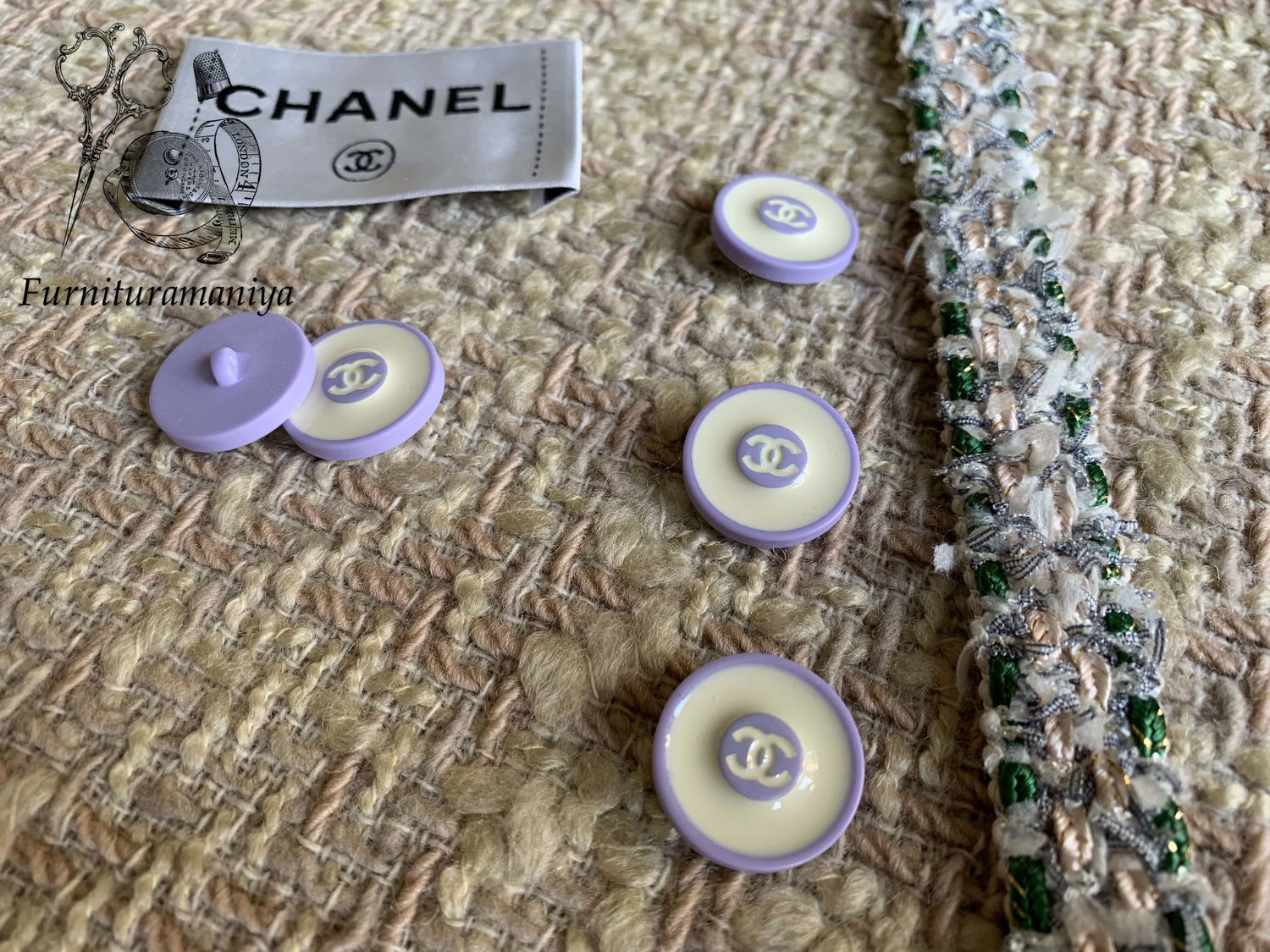 Buttons with Thiele Chanel, Buttons, Mytishchi,  Фото №1