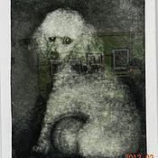 """Картины и панно ручной работы. Ярмарка Мастеров - ручная работа """"Пудель"""" портреты из тополиного пуха. Handmade."""
