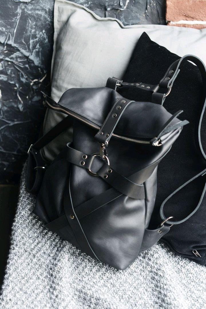 Black Free Spirit leather backpack, Backpacks, St. Petersburg,  Фото №1