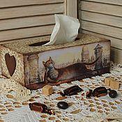 """Для дома и интерьера ручной работы. Ярмарка Мастеров - ручная работа Салфетница """"Жизнь удалась!"""". Handmade."""