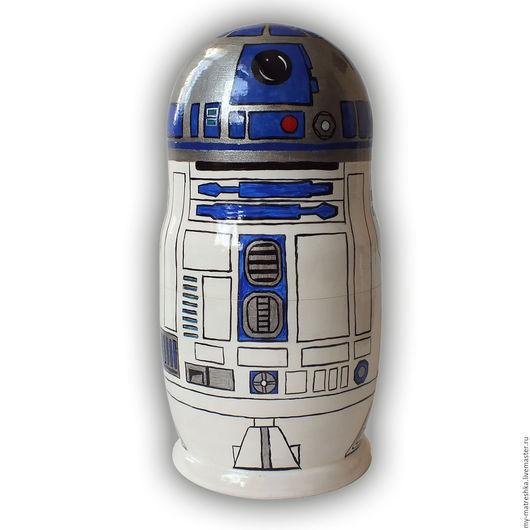 """Матрешки ручной работы. Ярмарка Мастеров - ручная работа. Купить Матрешка 1-местная """"R2-D2"""". Handmade. Комбинированный"""