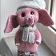 Игрушки животные, ручной работы. Ярмарка Мастеров - ручная работа. Купить Слонёнок Фабио. Handmade. Розовый, фелтинг, валяние сухое