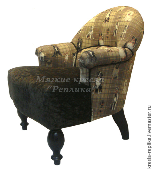 Мебель ручной работы. Ярмарка Мастеров - ручная работа. Купить Кресло для дома комбинированное. Handmade. Кресло, интерьерное кресло