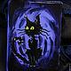 """Обложки ручной работы. Ярмарка Мастеров - ручная работа. Купить Обложка на паспорт """"Котище"""". Handmade. Тёмно-фиолетовый, коты, котище"""