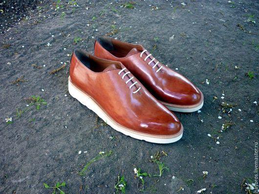 Обувь ручной работы. Ярмарка Мастеров - ручная работа. Купить Hayrapetyan Brothers обувь ручной работы. Handmade. Рыжий, яркий