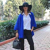 Одежда ручной работы. Ярмарка Мастеров - ручная работа Вязаный Кардиган ``Синяя Роза``. Handmade.