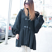 Одежда manualidades. Livemaster - hecho a mano abrigo. Abrigo de niña. el abrigo negro. Abrigo de lana. CT0060WB. Handmade.