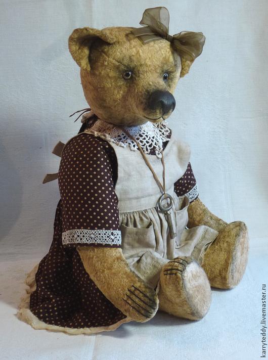 """Мишки Тедди ручной работы. Ярмарка Мастеров - ручная работа. Купить Медведь Тедди. """"Луша"""".. Handmade. Желтый, винтажный стиль"""