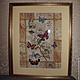 Фантазийные сюжеты ручной работы. Ярмарка Мастеров - ручная работа. Купить Картина вышитая Бабочки. Handmade. Бабочки, японский стиль
