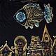 Футболки, майки ручной работы. Футболка Летающая золотая рыбка. Ирина - АртМайка и Чемодан чудес (artmaika). Ярмарка Мастеров. Рыбка