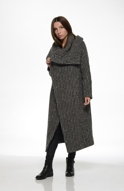Верхняя одежда ручной работы. Ярмарка Мастеров - ручная работа. Купить Пальто-трансформер утепленное (black&wight). Handmade. Чёрно-белый
