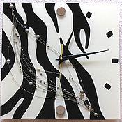 "Часы ручной работы. Ярмарка Мастеров - ручная работа Часы ""Зебра"". Handmade."