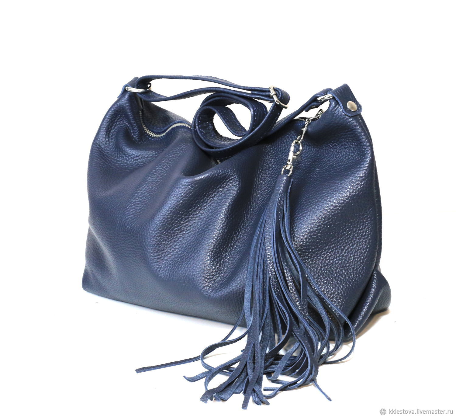 Bag with shoulder strap with internal pocket and tassel, Crossbody bag, Moscow,  Фото №1