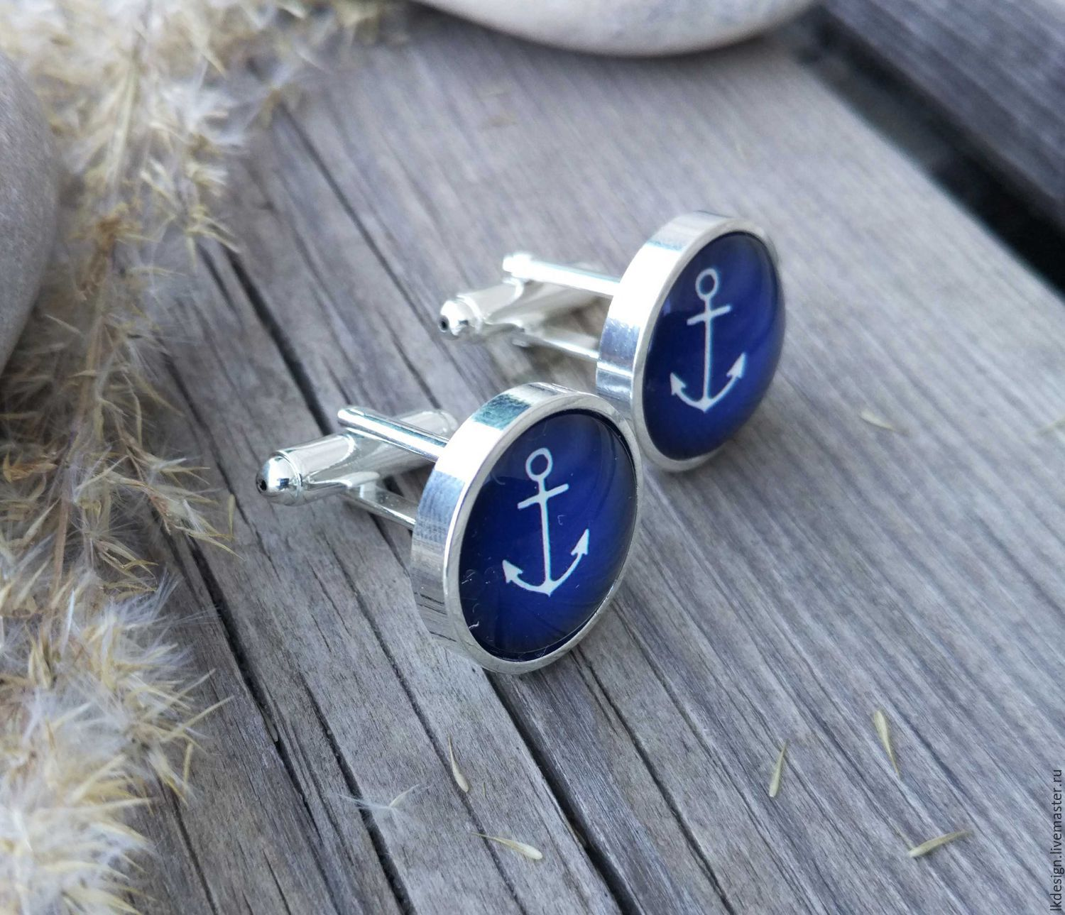 Cufflinks silver Anchor (large), Cuff Links, Moscow,  Фото №1