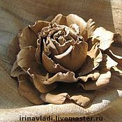 Украшения handmade. Livemaster - original item Brooch flower leather INDIAN rose Toccaracarly skin.. Handmade.