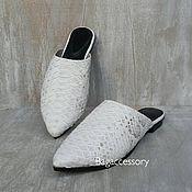 Обувь ручной работы handmade. Livemaster - original item Summer mules made of genuine Python leather. Handmade.