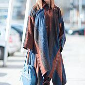 Одежда ручной работы. Ярмарка Мастеров - ручная работа Пальто, Пальто в полоску, Модные пальто, Шерстяное пальто. Handmade.