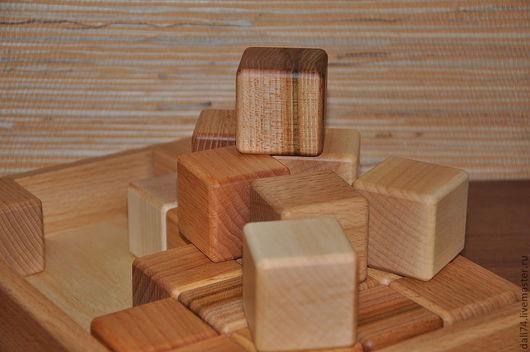 Развивающие игрушки ручной работы. Ярмарка Мастеров - ручная работа. Купить набор деревянных кубиков (24 шт. в коробке). Handmade.