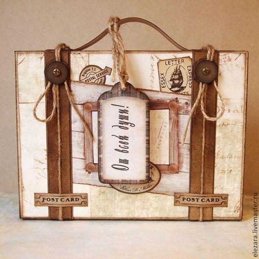 Оригинальный бумажный чемоданчик `От всей души` для вашего подарка или открытки.