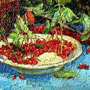 Картины и панно ручной работы. Ярмарка Мастеров - ручная работа В саду у калины. Handmade.