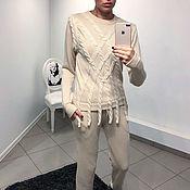 Одежда ручной работы. Ярмарка Мастеров - ручная работа Спортивный костюм из шерсти верблюда с вискозой. Handmade.