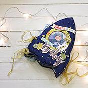 Канцелярские товары handmade. Livemaster - original item Photo album Rocket for boy. Handmade.