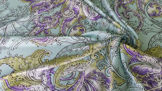 Шитье ручной работы. Ярмарка Мастеров - ручная работа. Купить Крепдешин шелковый  ETRO бирюза. Handmade. Шелк, ткань для одежды