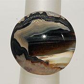 Кольцо из цельной породы Агата