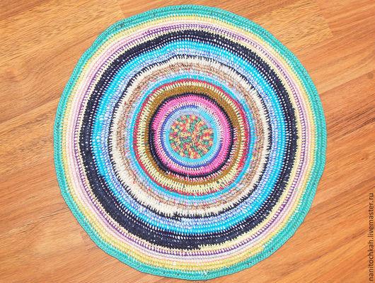 """Текстиль, ковры ручной работы. Ярмарка Мастеров - ручная работа. Купить Коврик в этностиле """"Хуторок"""". Handmade. Коврик, коврик для бани"""