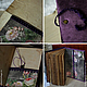 """Книга ручной работы """"Фиолетовый вечер"""". Блокноты. Hand made Екатерины Майоровой. Ярмарка Мастеров.  Фото №6"""