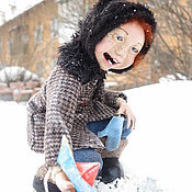 Куклы и игрушки ручной работы. Ярмарка Мастеров - ручная работа девочка с корабликом. Handmade.