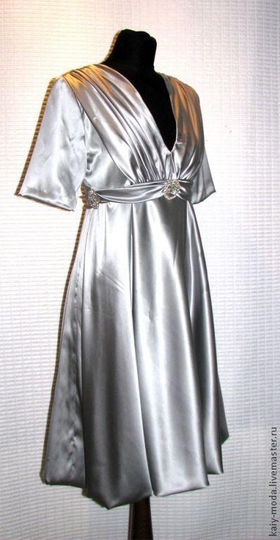 Платья ручной работы. Ярмарка Мастеров - ручная работа. Купить Нарядное шелковое платье. Handmade. Платье, нарядное платье